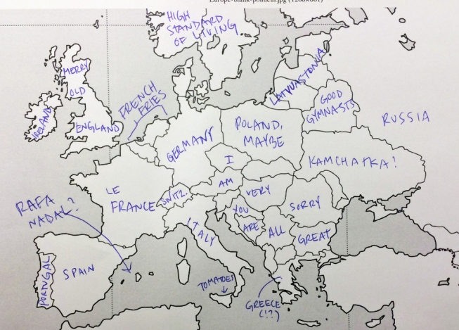 Buka Magazin Pokusaj Amerikanaca Da Lociraju Zemlje Evrope Na Mapi